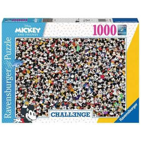 PUZZLE ravensburger MICKEY CHALLENGE premium 1500 PEZZI 80 x 60 cm TOPOLINO DISNEY