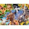 PUZZLE ravensburger DIVERTENTI ANIMALI DELLA FATTORIA 49 x 36 cm 200 PEZZI XXL grandi