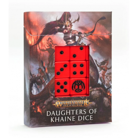 DAUGHTERS OF KHAINE dice SET DI 20 DADI games workshop CITADEL warhammer AGE OF SIGMAR età 12+