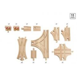 SET BINARI AVANZATO in legno treni BRIO 33307 trenino ADVANTAGE EXPANSION PACK