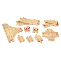 SET BINARI AVANZATO in legno treni BRIO 33307 trenino ADVANTAGE EXPANSION PACK