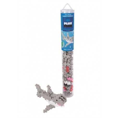 TUBO costruzioni MINI BASIC squalo SHARK 100 pezzi PLUSPLUS gioco modulare PLUS PLUS età 5+