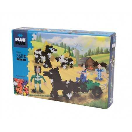 CARROZZA costruzioni MINI BASIC in plastica PLUS PLUS 360 pezzi PLUSPLUS gioco MODULARE età 5+