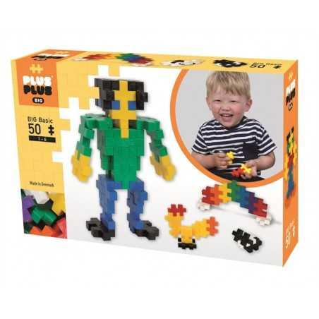 MIX costruzioni BIG BASIC in plastica PLUS PLUS 50 pezzi PLUSPLUS gioco MODULARE età 1+