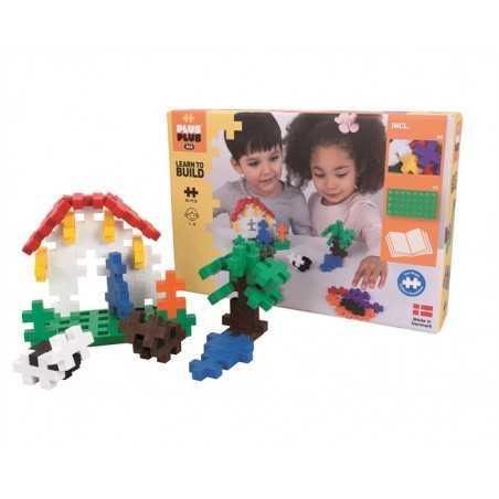 LEARN TO BUILD costruzioni BIG BASIC in plastica PLUS PLUS 60 pezzi PLUSPLUS gioco CON BASE età 1+