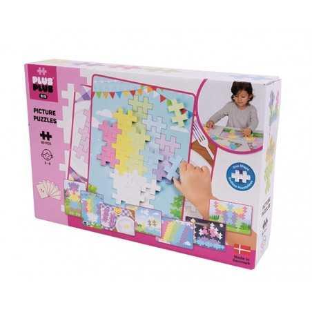 PICTURE PUZZLES costruzioni BIG PASTEL in plastica PLUS PLUS 60 pezzi PLUSPLUS gioco MODULARE età 3+