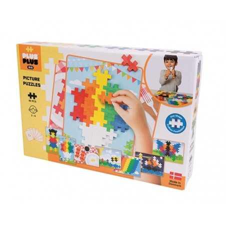 PICTURE PUZZLES costruzioni BIG BASIC in plastica PLUS PLUS 60 pezzi PLUSPLUS gioco MODULARE età 3+