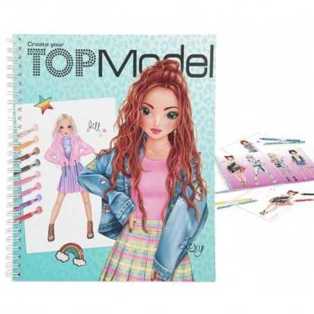 ALBUM creativo TOP MODEL topmodel JILL LEXY da colorare ARTISTICO crea la tua TOP MODEL - 1