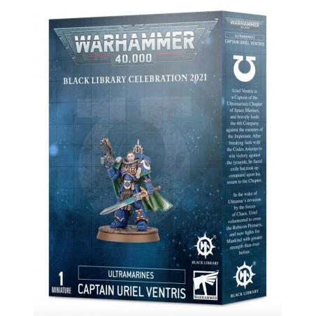 CAPITANO URIEL VENTRIS warhammer 40k ULTRAMARINES black library celebration 2021 MINIATURA età 12+