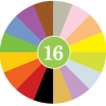 CRAYON ROCKS pastelli a cera SET DI 16 COLORI con sacchetto in cotone CERA DI SOIA età 3+