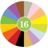 CRAYON ROCKS pastelli a cera SET DI 16 COLORI con sacchetto in velluto CERA DI SOIA età 3+
