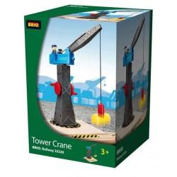 GRANDE GRU MAGNETICA in legno treni BRIO TRENINO 33320 TOWER CRANE