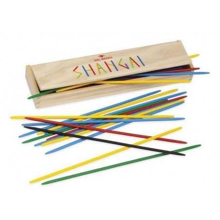 SHANGAI COLOR gioco in legno DAL NEGRO dalnegro 25CM 41 bastoncini CON SCATOLA età 5+
