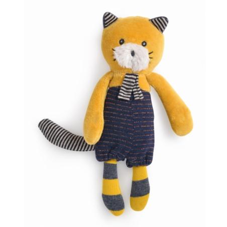 MINI PUPAZZO gatto LULU peluche MOULIN ROTY morbido LES MOUSTACHES bambola 666006