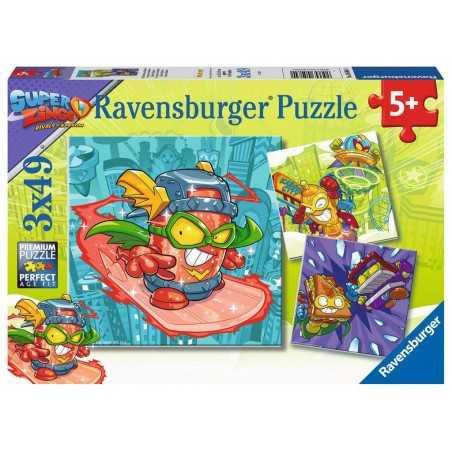 I RIVALI DI KABOOM ravensburger 3 PUZZLE originali da 49 PEZZI super zings 21 X 21 CM età 5+