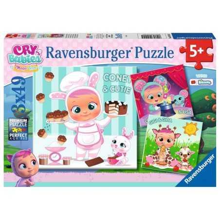 CONEY GIGI E LALA ravensburger 3 PUZZLE originali da 49 PEZZI cry babies magic tears 21 X 21 CM età 5+