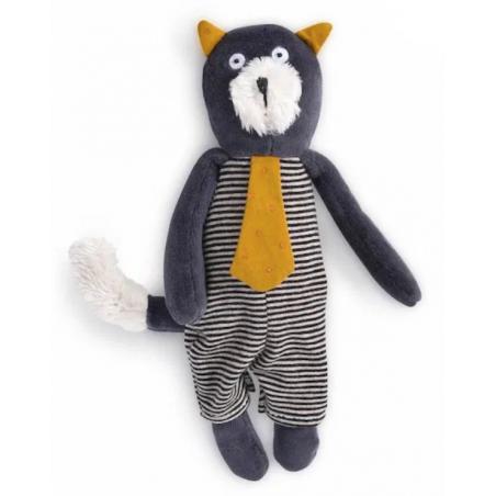 MINI PUPAZZO gatto ALFONSO peluche MOULIN ROTY morbido LES MOUSTACHES bambola 666007