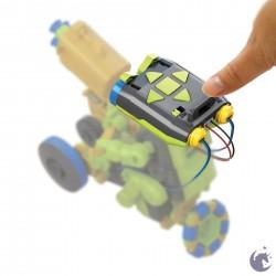ROBOT DA PROGRAMMARE 3 in 1 TRIBO kit scientifico STEM spazza disegna lancia A BATTERIE età 8+ OWI KIT - 5