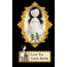 BAMBOLA gorjuss I LOVE YOU LITTLE RABBIT santoro MADE IN SPAIN london PROFUMATA età 3+