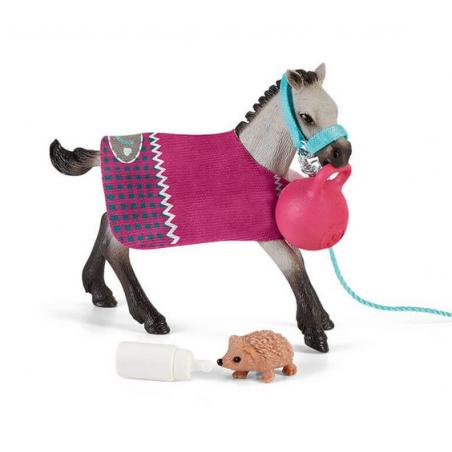 PULEDRO CON GIOCHI set HORSE CLUB miniature in resina SCHLEICH 42534 età 5+