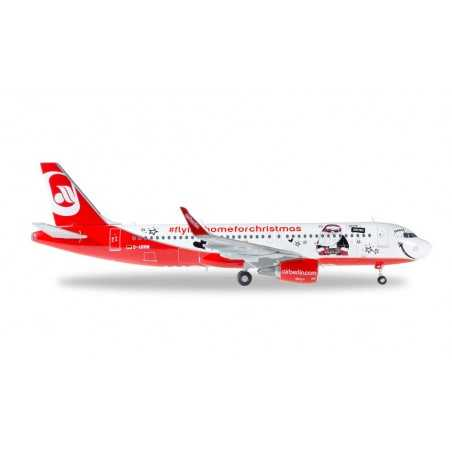 AIRBERLIN AIRBUS A320 LINDT HELLO FLYING HOME FOR CHRISTMAS aereo HERPA WINGS 558150 scala 1:200 Herpa - 1