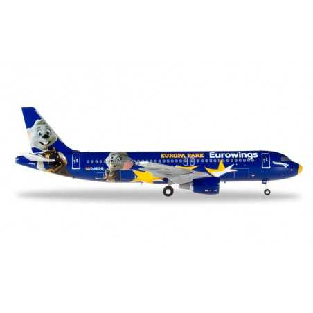 EUROWINGS AIRBUS A320 EUROPA PARK aereo HERPA WINGS 558808 scala 1:200 Herpa - 1