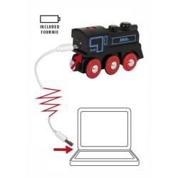 LOCOMOTIVA USB ricaricabile BRIO treno 33599 trenino RECHARGEABLE ENGINE WITH MINI USB CABLE età 3+ BRIO - 4