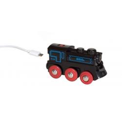 LOCOMOTIVA USB ricaricabile BRIO treno 33599 trenino RECHARGEABLE ENGINE WITH MINI USB CABLE età 3+ BRIO - 3