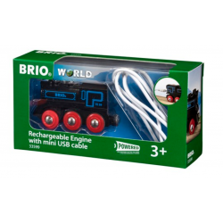 LOCOMOTIVA USB ricaricabile BRIO treno 33599 trenino RECHARGEABLE ENGINE WITH MINI USB CABLE età 3+ BRIO - 1