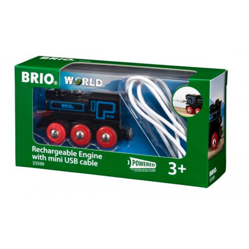 LOCOMOTIVA USB ricaricabile BRIO treno 33599 trenino RECHARGEABLE ENGINE WITH MINI USB CABLE età 3+ BRIO - 1