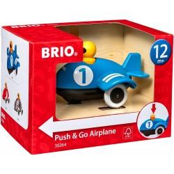 AEROPLANO SPINGI E VA push & go airplane BRIO aereo 30264 blu GIOCATTOLO età 12 mesi + BRIO - 3
