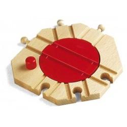 ROTONDA MECCANICA in legno treni BRIO trenino 33361 Mechanical Turntable