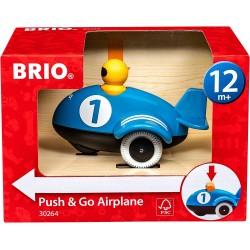 AEROPLANO SPINGI E VA push & go airplane BRIO aereo 30264 blu GIOCATTOLO età 12 mesi + BRIO - 1