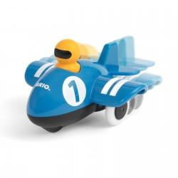 AEROPLANO SPINGI E VA push & go airplane BRIO aereo 30264 blu GIOCATTOLO età 12 mesi + BRIO - 2