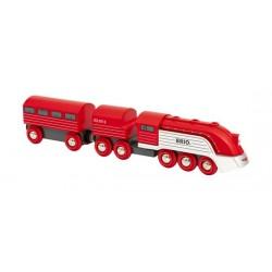 TRENO AERODINAMICO trenino BRIO rosso e argento 33557 locomotiva STREAMLINE età 3+ BRIO - 2