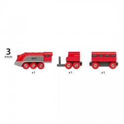 TRENO AERODINAMICO trenino BRIO rosso e argento 33557 locomotiva STREAMLINE età 3+ BRIO - 4