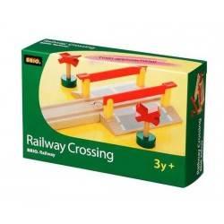 PASSAGGIO A LIVELLO in legno treni BRIO trenino 33388 Railway Crossing
