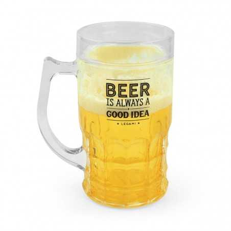 BOCCALE DI BIRRA refrigerante ILLUSIONE OTTICA cooling beer mug LEGAMI home sweet home Legami - 1