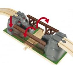 PONTE PERICOLANTE in legno treni BRIO trenino 33391 Collapsing Bridge