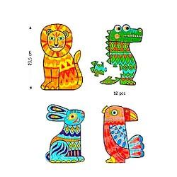 PUZZLE DA COLORARE do it yourself ANIMALCOLOR animali DJECO DJ07946 set di 4 tavole KIT ARTISTICO età 4+ Djeco - 2