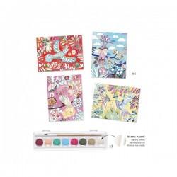 COLORI A TEMPERA arte al numero MELODIA set 4 tavole DJ08963 kit artistico DJECO età 7+ Djeco - 2