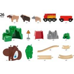 FERROVIA ANIMALI DEL NORD BRIO 33988 set treni in legno per bambini BRIO - 4
