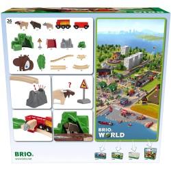 FERROVIA ANIMALI DEL NORD BRIO 33988 set treni in legno per bambini BRIO - 5