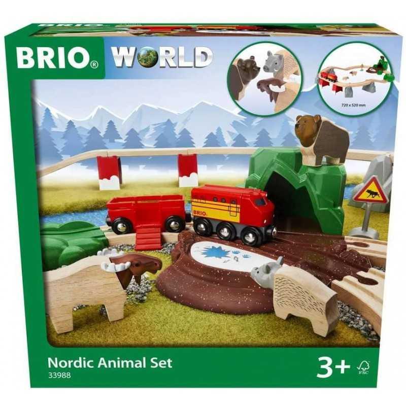 FERROVIA ANIMALI DEL NORD BRIO 33988 set treni in legno per bambini BRIO - 1