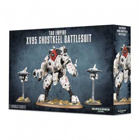 XV95 GHOSTKEEL BATTLESUIT Warhammer 40k TAU EMPIRE 3 miniature GAMES WORKSHOP età 12+ Games Workshop - 1
