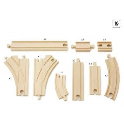 SET BINARI 2 INTERMEDIO in legno treni BRIO trenino 33402 Expansion Pack Interm.