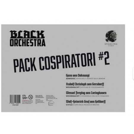 PACK COSPIRATORI 2 espansione per BLACK ORCHESTRA in italiano AVVOCATO E AGENTE DELLA ABWEHR età 14+ Asmodee - 1