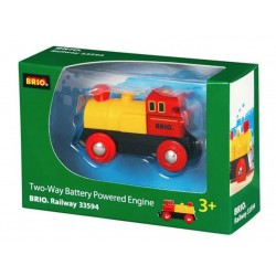 LOCOMOTIVA a batteria GIALLA E ROSSA two way battery powered engine 33594 BRIO world TRENI età 3+ BRIO - 1