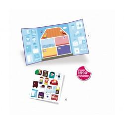 CREA CON ADESIVI SPESSI kit artistico CASA stickers riposizionabili DJECO gioco DJ09072 età 18 mesi + Djeco - 2