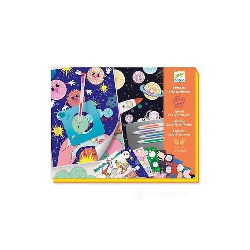 DISEGNO CON LE SPIRALI quaderno 10 TEMI kit artistico DJECO creativo DJ08736 età 7+ Djeco - 1